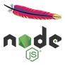 Fusion du logo d'apache et de node.js